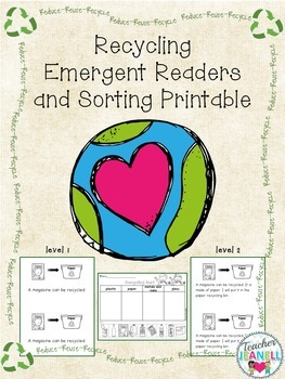 Recycling Emergent Reader and Sorting Printable