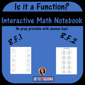 Is it a Function? Foldable for Interactive Notebook