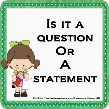 Is it a Question or a Statment - Types of sentences
