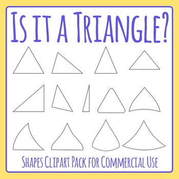 Is it a Triangle?  Geometry / Shapes Identification Clip A