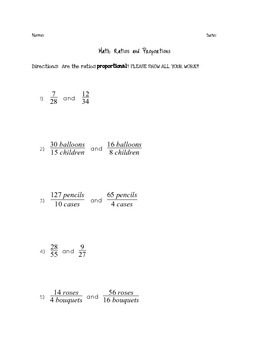 Is the Ratio Proportional? Quick Assessment