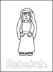 Isaac and Rebekah Printable Color Sheets. Preschool Bible