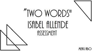 "Isabel Allende's ""Two Words"" Mini-Unit"