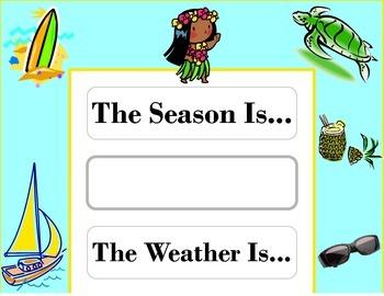 Island Weather Chart! Island Bulletin Board! Island Theme!