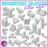 Isometric blocks clip art