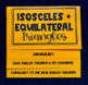 Isosceles and Equilateral Triangles (Geometry Foldable)