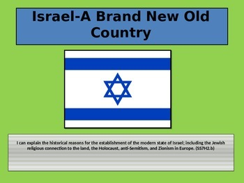 Israel A Brand New Old Country Powerpoint with Close Notes