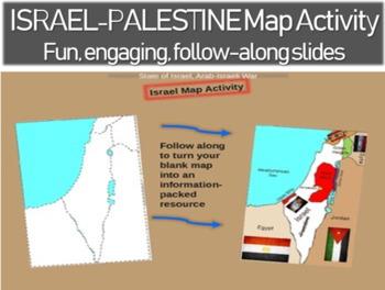 Israel - Palestine Map Activity - fun engaging, follow alo