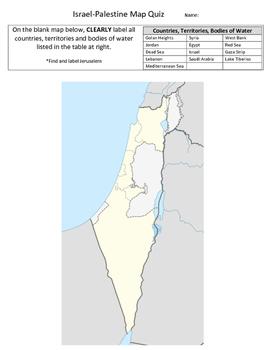 Israel-Palestine Map Quiz