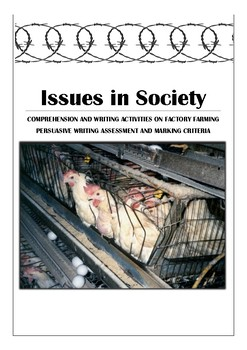 Issues in Society - Comprehension Activities and Persuasiv