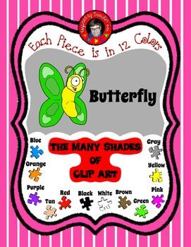 It is Spring with Butterfly Clip Art ~ 12 Colors & Free Co