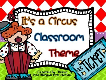 It is a Circus Classroom Theme (Including Spanish Alphabet