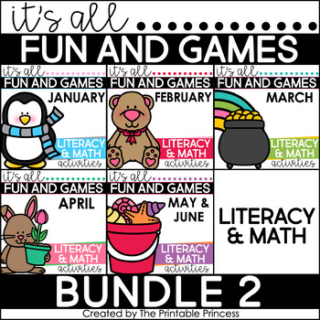 It's All Fun and Games {Math & Literacy Activities}: Jan-M