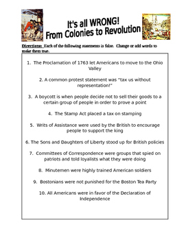American Revolution: It's All Wrong! From Colonies to Revolution