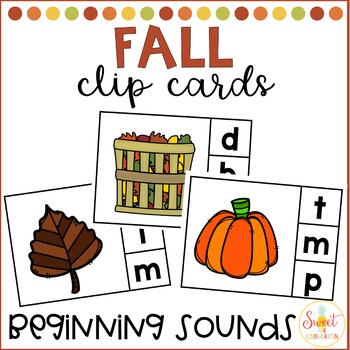 It's Fall Y'all! Beginning Sounds Clip It
