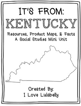 It's From: Kentucky - A Mini Unit about Resources, Product