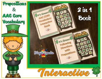 It's Green! AAC CORE Vocabulary Interactive Book (St. Patr