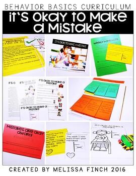 It's Okay To Make a Mistake- Behavior Basics Program for S