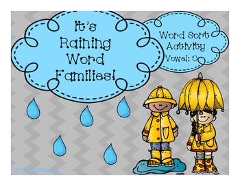 It's Raining Word Families- O