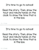 It's School Time! - Telling Time in School Story and Activ
