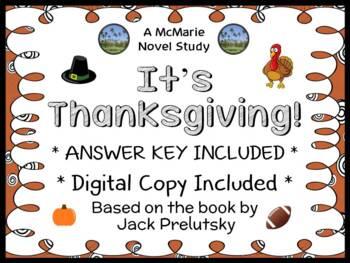 It's Thanksgiving! (Jack Prelutsky) Book Study / Reading C