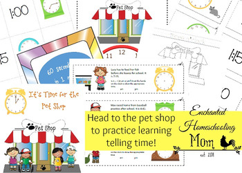 It's Time for the Pet Shop Math Pack
