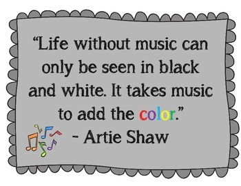 It takes Music to add the color Poster