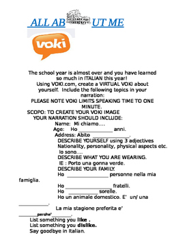 Italian: Virtual Voki Project