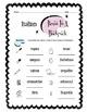 Italian Backpack Items Worksheet Packet
