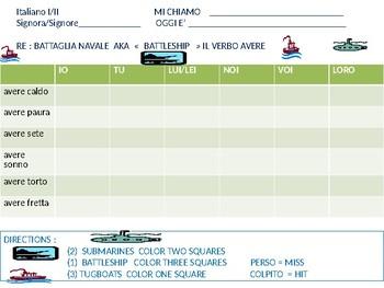 Italian: Battleship game with AVERE