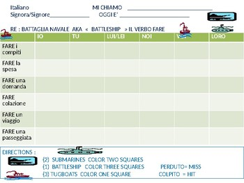 Italian: Battleship game with FARE