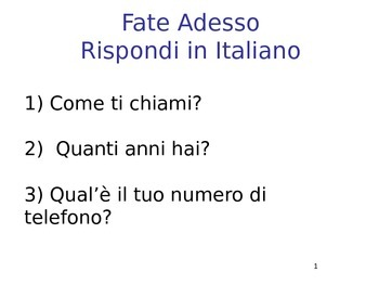 Italian Days, months, dates