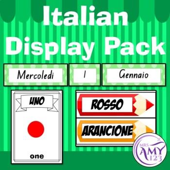 Italian Display Pack - Numbers, Colours & Calendar