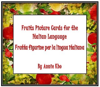 Italian Fruits Picture Cards and Worksheets