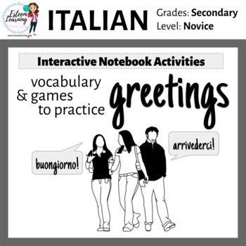 Italian Greetings Interactive Notebook Activities