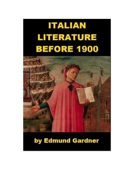 Italian Literature before 1900