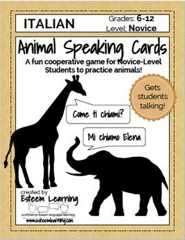 Animal Speaking Cards - Italian