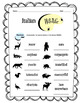 Italian Wildlife Worksheet Packet