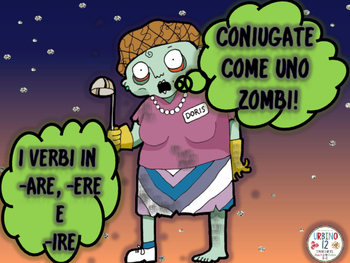 Italian Zombie Conjugation Bookmarks