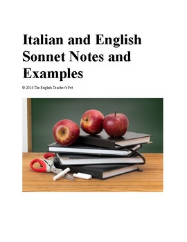 Italian and English Sonnet notes and examples