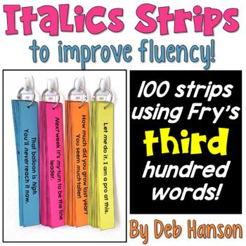 Italics Sentence Strips (Fluency Center) featuring Fry's t