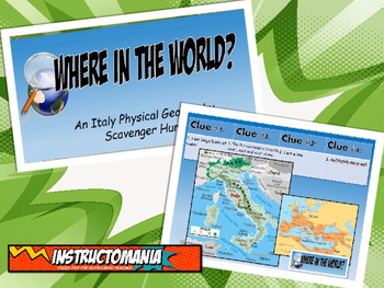 Italy Physical Geography Class GAME: World Scavenger Hunt