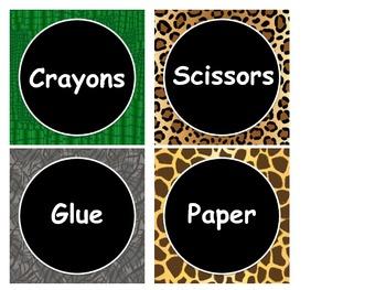 It's A Jungle Classroom Labels