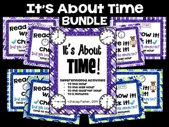 It's About Time BUNDLE-Time to the Hour, Half Hour, Quarte