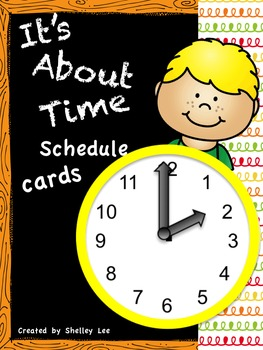 It's About Time Schedule Cards