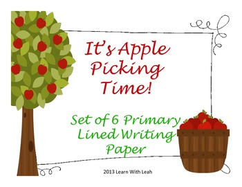 It's Apple Picking Time!  Free Writing Paper for the Prima
