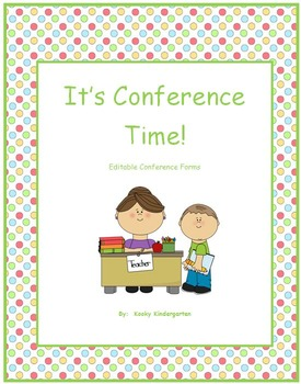"""""""It's Conference Time"""" Editable Conference Forms to meet y"""