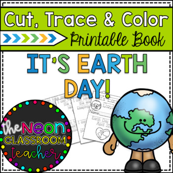 """It's Earth Day!"" Printable Cut, Trace & Color Book!"