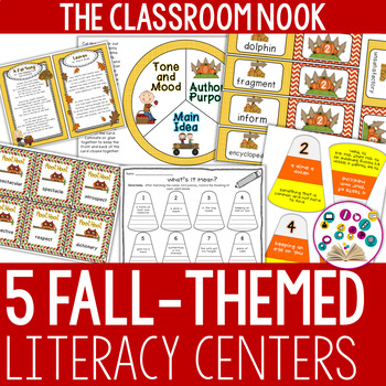 It's Fall Y'all! {5 Literacy Centers for Older Students} - CCSS