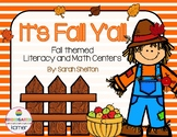 It's Fall Y'all Literacy and Math Centers